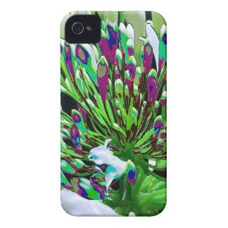 Diversión romántica verde floral de los regalos de Case-Mate iPhone 4 cárcasa