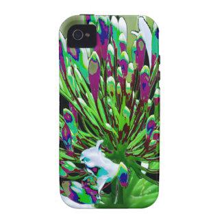 Diversión romántica verde floral de los regalos de iPhone 4 carcasas