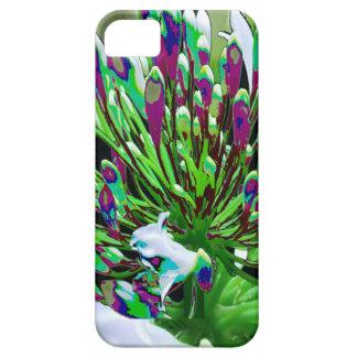 Diversión romántica verde floral de los regalos de iPhone 5 Case-Mate cárcasa