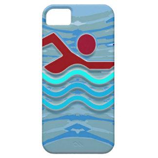 DIVERSIÓN rosada de la piscina NVN695 del corazón iPhone 5 Case-Mate Protector