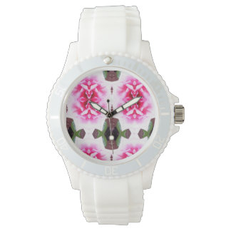 diversión rosada fresca del reloj de la flor nueva