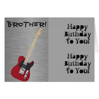 Diversión, saludo del cumpleaños para el hermano, tarjeta de felicitación