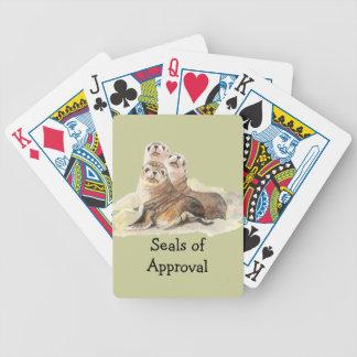 """Diversión """"sellos de la aprobación"""" con los sellos baraja de cartas"""