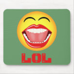 Diversión sonriente amarilla Mousepad Mousemat de