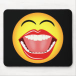 Diversión sonriente Mousepad amarillo divertido