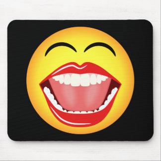 Diversión sonriente Mousepad amarillo divertido Mo Tapete De Raton