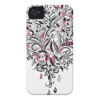 Diversión subió pétalo del corazón del flower Case-Mate iPhone 4 fundas