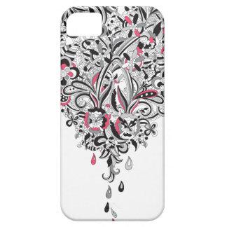 Diversión subió pétalo del corazón del flower iPhone 5 fundas