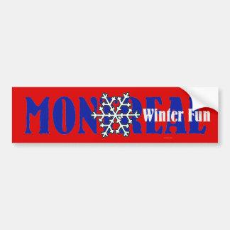 Diversión SUPERIOR del invierno de Montreal Pegatina De Parachoque