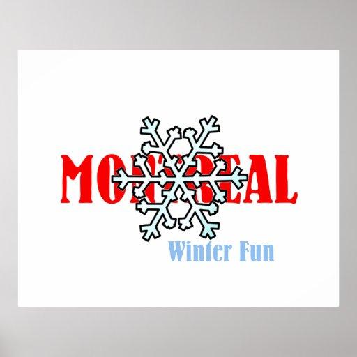Diversión SUPERIOR del invierno de Montreal Impresiones