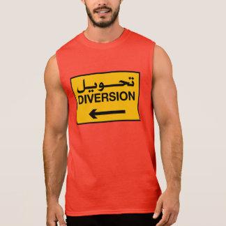 Diversion, Traffic Sign, Bahrain Sleeveless Shirt