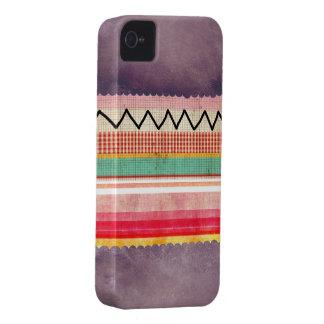 Diversión única púrpura del zigzag Case-Mate iPhone 4 protectores