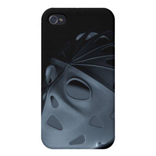 diversión vaga del Falso-resplandor de la máscara  iPhone 4 Funda