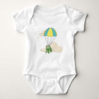 Diversión verde Onsie del paraguas del dogo Body Para Bebé
