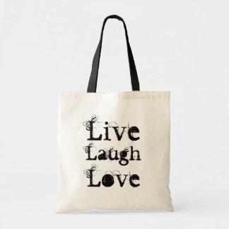 Diversión viva risa la bolsa de asas del amor