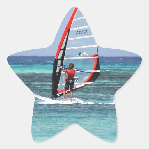 Diversión Windsurfing Colcomanias Forma De Estrellaes Personalizadas