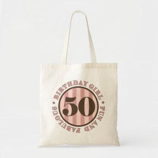 Diversión y 50.os regalos de cumpleaños fabulosos bolsa tela barata