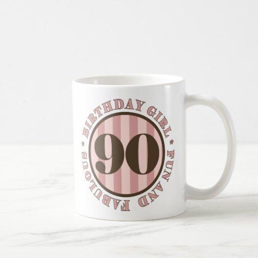 Diversión y 90.os regalos de cumpleaños fabulosos taza
