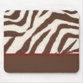 Diversión y Brown de moda estampado de girafa rojo Tapete De Ratón