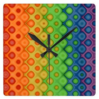 ¡Diversión y burbujas retras artísticas enrrollada Reloj De Pared