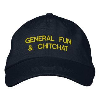 diversión y charla generales gorra de béisbol