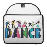 Diversión y danza rayada colorida de los bailarine fundas macbook pro