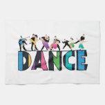 Diversión y danza rayada colorida de los bailarine toalla de mano