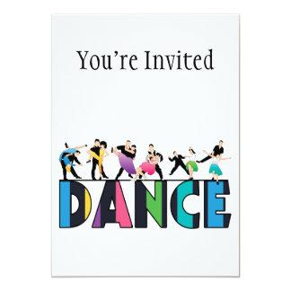 Diversión y danza rayada colorida de los invitacion personalizada