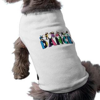 Diversión y danza rayada colorida de los playera sin mangas para perro