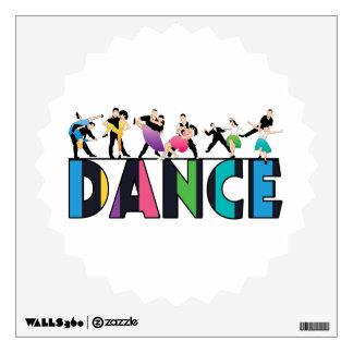 Diversión y danza rayada colorida de los vinilo adhesivo