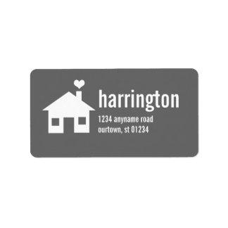 Diversión y etiqueta de dirección de encargo
