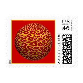 Diversión y franqueo colorido de la bola del leopa