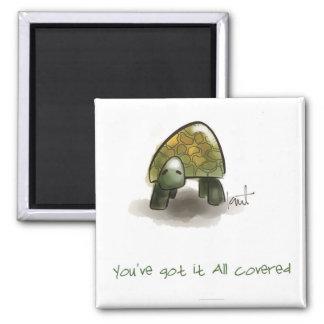 Diversión y imanes inspirados de la tortuga imán cuadrado