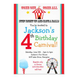 Diversión y invitación del fiesta del carnaval de