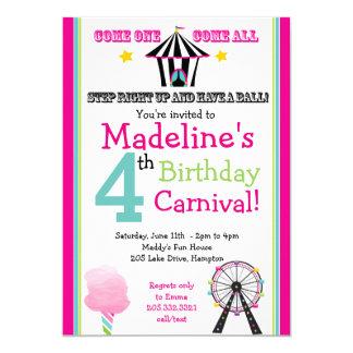 Diversión y invitación del fiesta del carnaval del