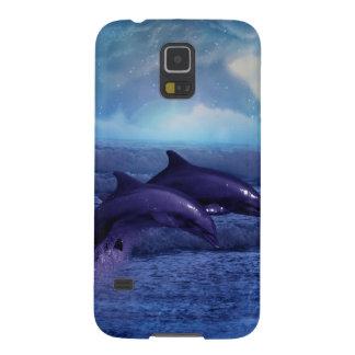 Diversión y juego de los delfínes carcasa de galaxy s5
