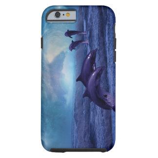 Diversión y juego de los delfínes funda de iPhone 6 tough