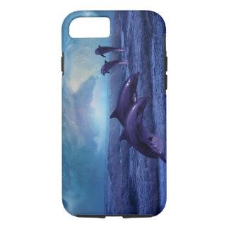 Diversión y juego de los delfínes funda iPhone 7