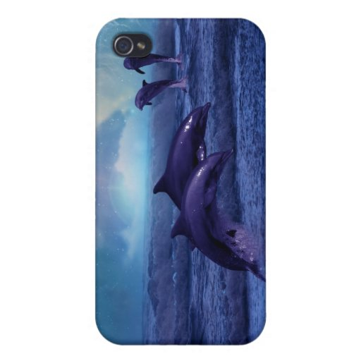 Diversión y juego del delfín iPhone 4 fundas