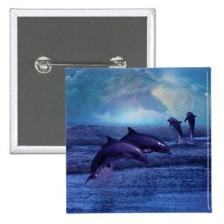 Diversión y juego del delfín pins