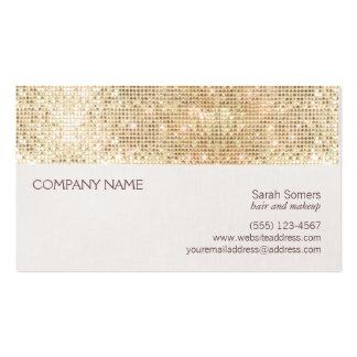 Diversión y lentejuela brillante del oro femenino tarjeta de negocio