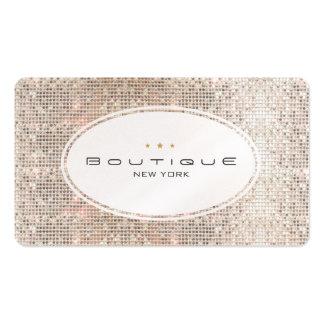 Diversión y lentejuelas de plata del boutique lind tarjetas de negocios