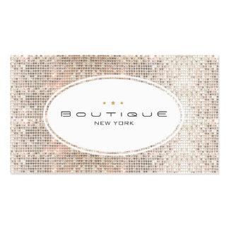 Diversión y lentejuelas de plata del boutique tarjetas de visita