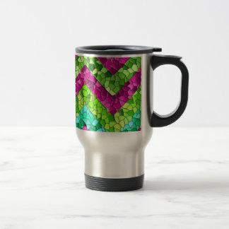 Diversión y modelo brillante de la teja de mosaico tazas de café