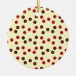Diversión y modelo terroso de Geometic Ornamento Para Arbol De Navidad