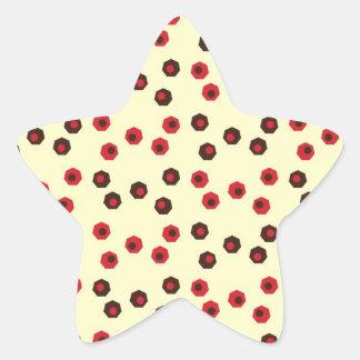 Diversión y modelo terroso de Geometic Pegatina En Forma De Estrella