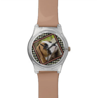 Diversión y reloj dulce de moda del perro del boxe