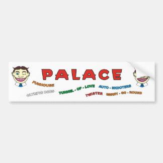 Diversiones del palacio que construyen la etiqueta pegatina para auto