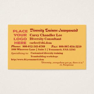 Diversity (Autumn) Business Card
