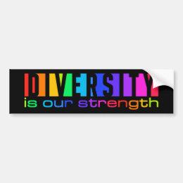 Diversity bumpersticker bumper sticker
